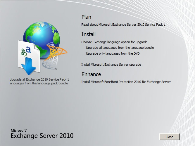 SP1 pour Exchange 2010